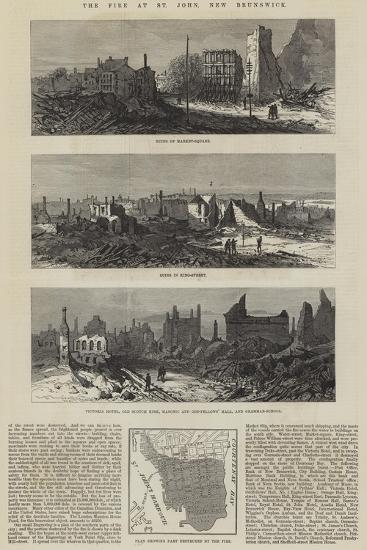 The Fire at St John, New Brunswick--Giclee Print