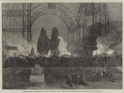 The Fire at the Crystal Palace on Sunday Last, the Ruins as Seen from the Terrace--Giclee Print