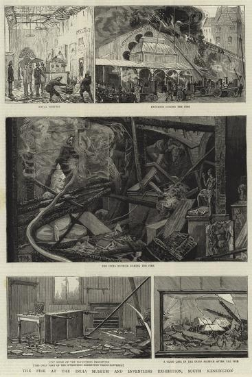 The Fire at the India Museum and Inventions Exhibition, South Kensington--Giclee Print