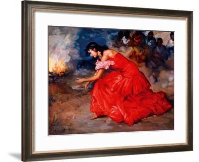 The Fire Dance-Fransisco R S Clemente-Framed Giclee Print