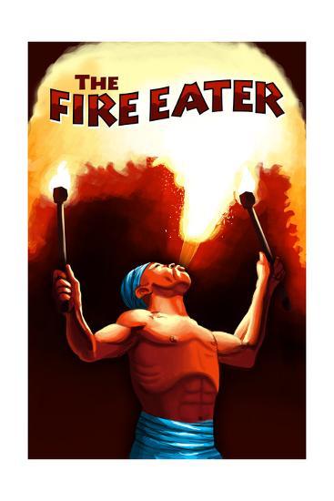The Fire Eater-Lantern Press-Art Print