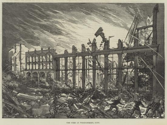 The Fire in Wood-Street, City--Giclee Print