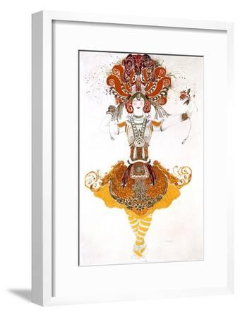 The Firebird, Costume Design for Tamara Karsavina in Stravinsky's Ballet the Firebird, 1910-Leon Bakst-Framed Giclee Print