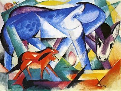 The First Animals, 1913-Franz Marc-Giclee Print