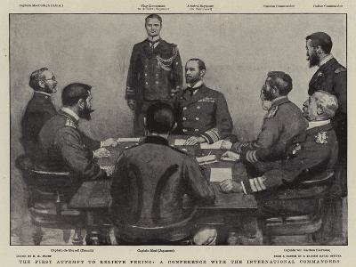 The First Attempt to Relieve Peking, a Conference with the International Commanders-Henry Marriott Paget-Giclee Print