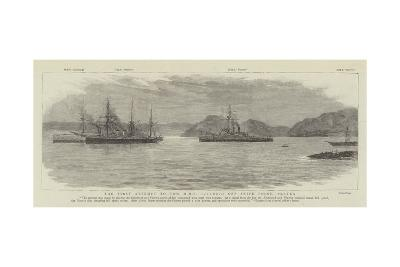 The First Attempt to Tow HMS Victoria Off Snipe Point, Platea--Giclee Print