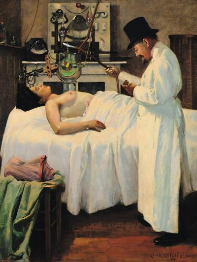 The First Attempt to Treat Cancer with X Rays by Doctor Chicotot, 1907-Georges Chicotot-Giclee Print