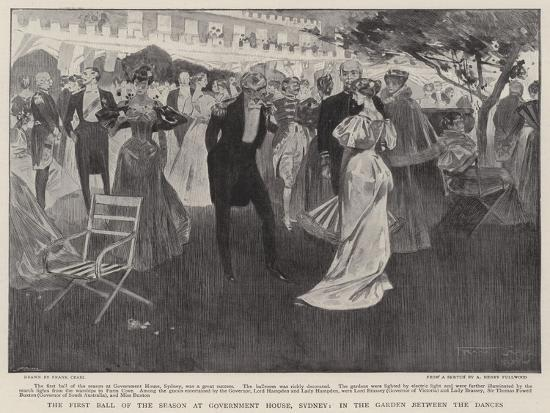 The First Ball of the Season at Government House, Sydney, in the Garden Between the Dances-Frank Craig-Giclee Print