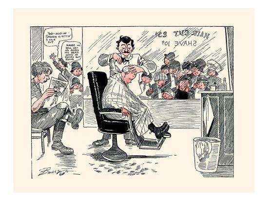 The First Barber Shop Hair Cut-Clare A. Briggs-Art Print