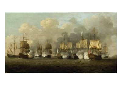 The First Battle of Finesterre, 3rd May 1747-Richard Paton-Giclee Print