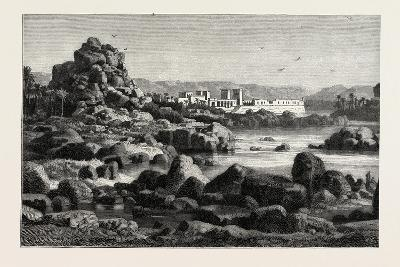 The First Cataract of the Nile and the Island of Phile Egypt, 1882--Giclee Print