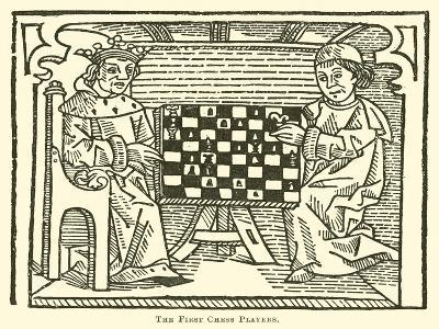 The First Chess Players--Giclee Print