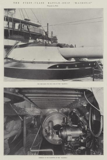 The First-Class Battle-Ship Majestic--Giclee Print