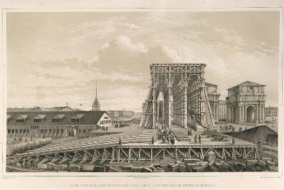The First Column on the Construction, 1845-Auguste de Montferrand-Giclee Print