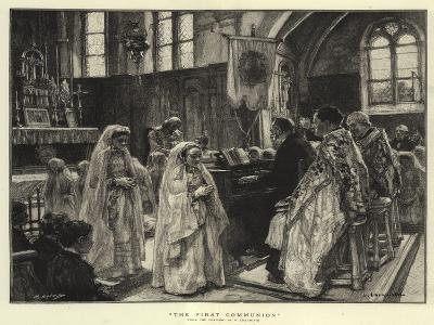 The First Communion--Giclee Print