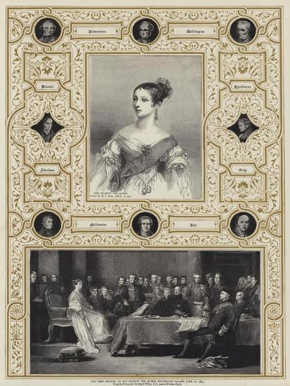 The First Council of Her Majesty the Queen, Kensington Palace, 20 June 1837-Richard James Lane-Giclee Print
