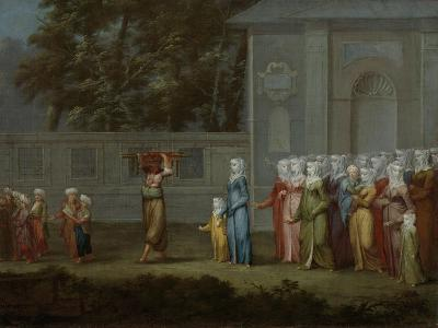 The First Day of School, c.1720-37-Jean Baptiste Vanmour-Giclee Print