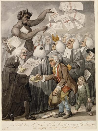 The First Day of Term - or the Devil Among Lawyers-Robert Dighton-Giclee Print