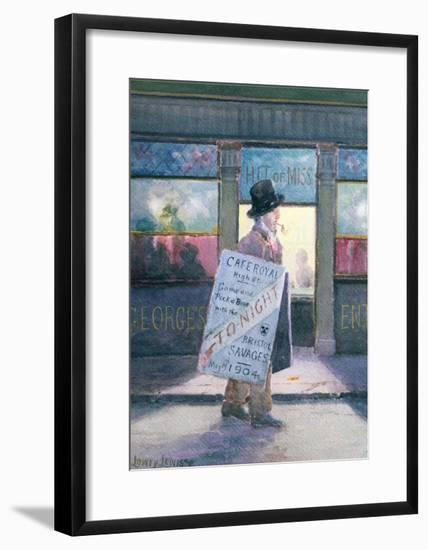 The First Dinner, 1904-Lowry Lewis-Framed Giclee Print