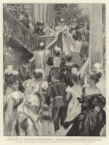 The First Drawing Room of the Season in Dublin Castle, the Scene in the Main Staircase