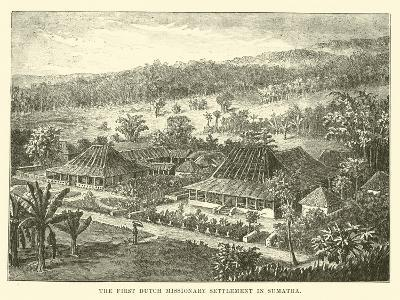 The First Dutch Missionary Settlement in Sumatra--Giclee Print