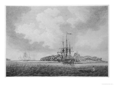 The First English Fleet Sails into Botany Bay-R. Clevely-Giclee Print