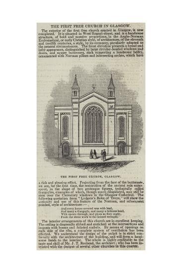 The First Free Church, Glasgow--Giclee Print