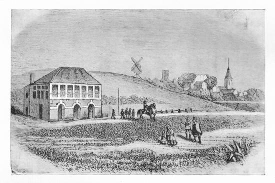 'The First Grand Stand at Newmarket', c1765, (1911)-Unknown-Giclee Print