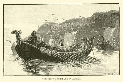 The First Greenland Colonists--Giclee Print