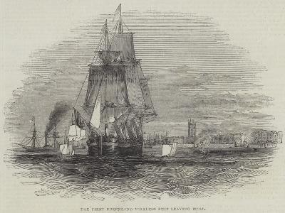 The First Greenland Whaling Ship Leaving Hull--Giclee Print