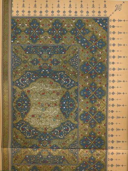 'The First Half of the First Sura of the Koran', c1902, (1903)-Unknown-Giclee Print