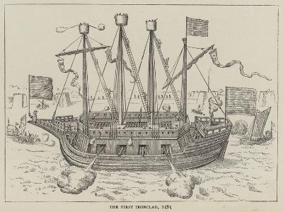 The First Ironclad, 1585--Giclee Print