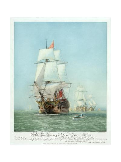 The First Journey of ?Victory,' 1778--Giclee Print