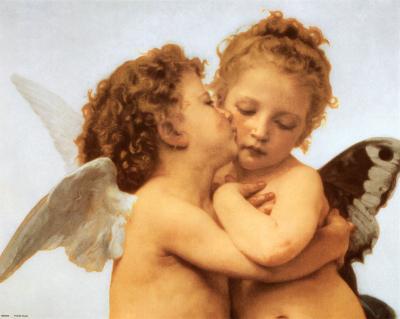 The First Kiss, c.1873 (detail)-William Adolphe Bouguereau-Art Print