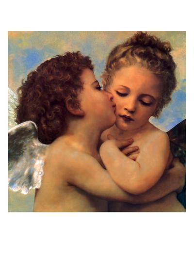 The First Kiss (Detail), 1890--Giclee Print