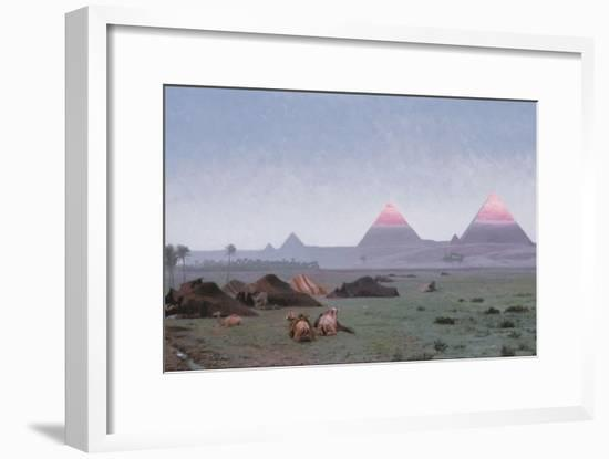 The First Kiss of the Sun-Jean Leon Gerome-Framed Giclee Print