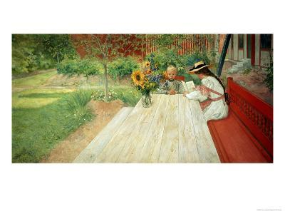 The First Lesson, 1903-Carl Larsson-Giclee Print