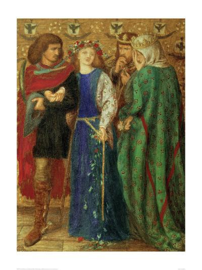 The First Madness of Ophelia-Dante Gabriel Rossetti-Giclee Print