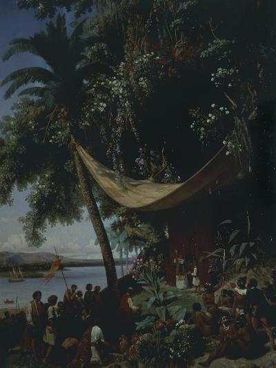 The First Mass in America-Philibert-Louis Debucourt-Giclee Print