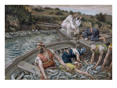 The First Miraculous Draught of Fish, Illustration for 'The Life of Christ', C.1886-94-James Tissot-Giclee Print