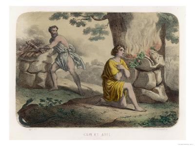 The First Murder: Cain Kills His Brother Abel and is Thereafter Marked for Life--Giclee Print