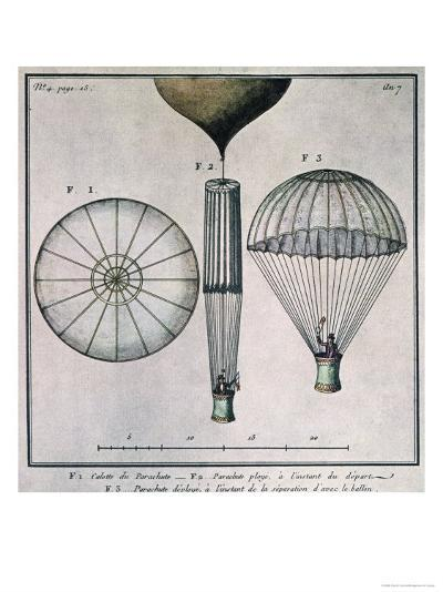 The First Parachute Descent by Andre-Jacques Garnerin--Giclee Print