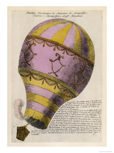 The First Passenger-Carrying Flight is Made by a Hot-Air Balloon--Giclee Print