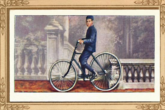 'The First Pneumatic-Tyred Bicycle', 1939-Unknown-Giclee Print