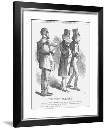 The First Question, 1866-John Tenniel-Framed Giclee Print