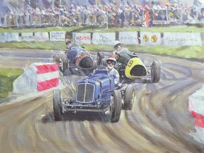The First Race at the Goodwood Revival, 1998-Clive Metcalfe-Giclee Print