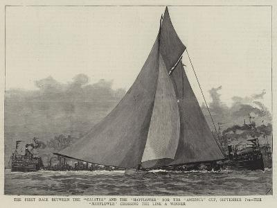 The First Race Between the Galatea and the Mayflower for the America Cup--Giclee Print