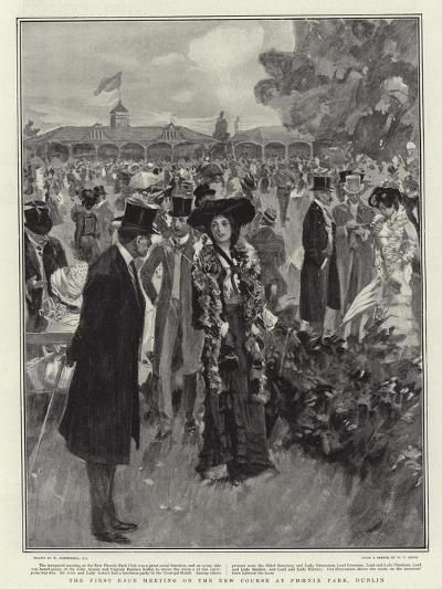 The First Race Meeting on the New Course at Phoenix Park, Dublin-William Hatherell-Giclee Print