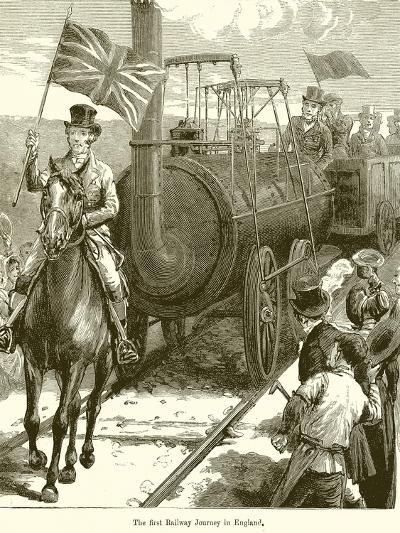 The First Railway Journey in England--Giclee Print