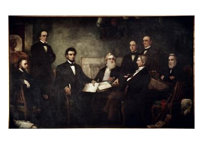 The First Reading of the Emancipation Proclamation-Francis Bicknell Carpenter-Giclee Print
